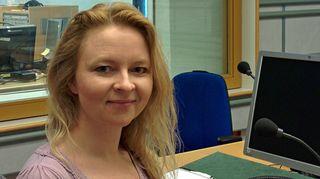 Taidehistorioitsija Anna Kortelainen.