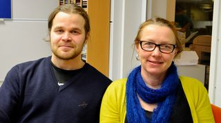 Sarjakuvataiteilija Jyrki Nissinen ja valokuvaaja Sanni Seppo Kaikki kotona -lähetyksen vieraina 27.1.2015