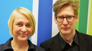 Ruokablogistit Minna Stoilov ja Jaakko Kujanpää Kaikki kotona -lähetyksen vieraina