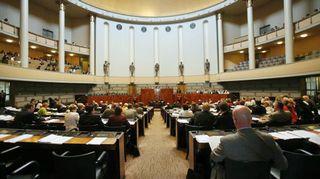 Eduskunnan täysistunto tiistaina 29. toukokuuta 2007.