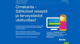 Kuvakaappaus Omakanta.fi -palvelusta