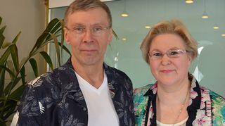 Disko K-50:n ansiosta rakastunut pari Tiina Roponen ja Timo Salmen
