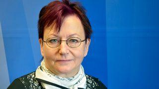 Työterveyslaitoksen tutkimusprofessori Kiti Müller Taustapeilin vieraana 16.9.2014