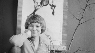 Yleisradion toimittaja Ulla-Maija Aaltonen (Uma Aaltonen) 1.1.1970.