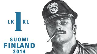 Tom of Finland -postimerkki.