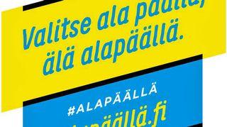 Alapaalla -kampanjan logo.