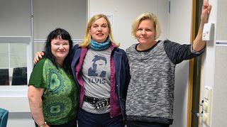 Minna Kivelä, Kikka Seppä ja Paula Noronen