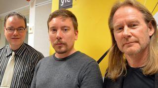 Mika Ebeling ja Matti Häyry Perttu Häkkisen vieraina.