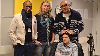 Kuvassa Abdirahim Husu Hussein, Jari Teurajärvi, Harri Soinila sekä Ali Jahangiri.