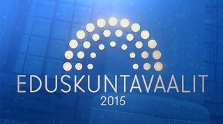 Kuvassa eduskuntavaalit 2015 -logo.