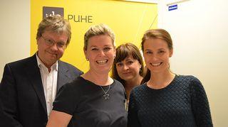 Pekka Sauri, Laura Aalto, Marjaana Toiminen ja Maria Ritola
