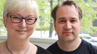 Henrietta Gyllenbögel ja Jyrki Rinta-Jouppi Mielenterveyden keskusliitosta.