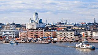 Kuvassa Helsinki mereltä katsottuna.