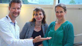 Kuvassa toimittaja Sakari Sirkkasen vieraana ovat Riikka Slunga-Poutsalo ja Veronika Honkasalo.