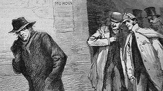 The Illustrated London Newsissa 13. lokakuuta 1888 julkaistu Aaron Kosminskia esittävä piirros.