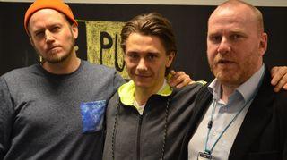 Kuvassa ovat Tommy Lindgren, Petteri Sihvonen ja Pekka Puskala.