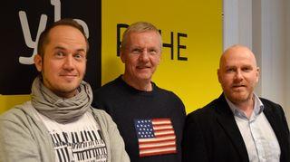 TOmmy Lindgren, Kari Jalonen ja Petteri Sihvonen