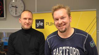 Keilailumaajoukkueen Petteri Salonen ja Pasi Uotila
