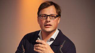 """Martin Hoffmann, Saksan julkisoikeudellisen ZDF-kanavan TV-uutisten toimittaja, joukkoviestinnän tutkija """"European Centre for Press & Media"""" -instituutissa."""