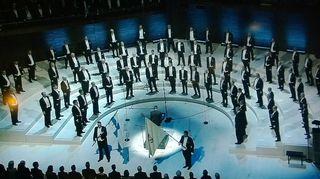 Laulu-Miehet 100-vuotiskonsertti Helsingin Musiikkitalossa.
