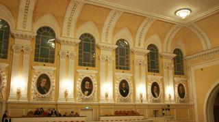 Moskovan konservatorion suuressa salissa