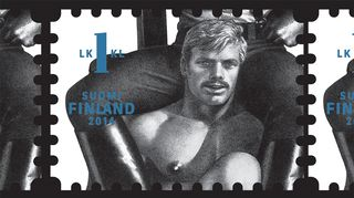 Itellan Tom of Finland -postimerkki.