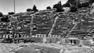 Raunioitunut amfiteatteri