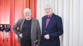 Kirjailija Antti Tuuri ja professori Olavi Koivukangas