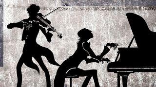 Viulisti ja pianisti instrumenttiensa kera