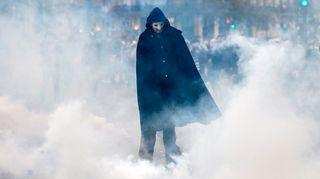 Pariisi 2015. Ilmastonmuutoksen vastainen mielenosoittaja.