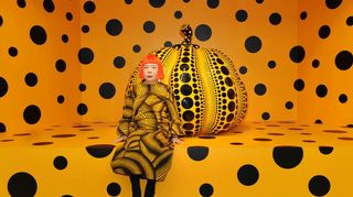 Kusama with PUMPKIN at Aichi Triennale 2010