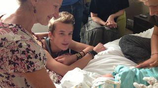 Ensimmäinen lapsenlapsemme syntyi vuonna 2013. Sirkku Peltola