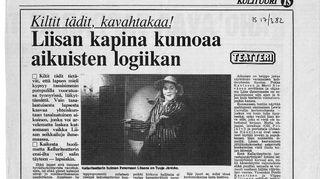 Kellariteatterin Liisa Ihmemaassa -kritiikki - lähtölaukaus julkisuuteen
