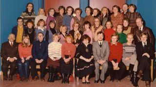 Sibeliuslukion opettajien yhteiskuva vuodelta -79.