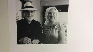 Michelangelo Pistoletto ja Krista Mikkola Biellassa