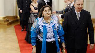 Miranda ja Urpo Vuolasranta itsenäisyyspäivän vastaanotolla presidentinlinnassa vuonna 2010.