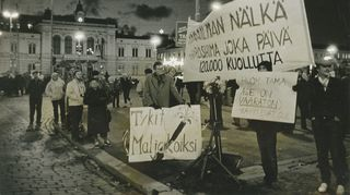 Rauhanmarssilla Tampereella.