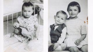 Marita Liulia yhdessä veljensä kanssa valokuvaamon ottamassa kuvassa 1960-luvulla.