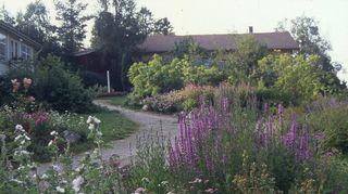 """Frantsilan luomuyrttitilan """"Hyvän olon keskus"""" on ikivanha Frantsilan suvun rakennus."""