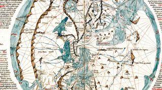 Petrus Vesconten maailmankartta 1320-luvulta.