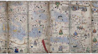 Abraham Cresquesin Katalonialainen Atlas vuodelta 1375