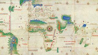 Cantinon planisfääri vuodelta 1502.