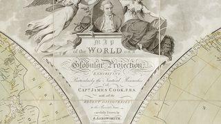 Aaron Arrosmithin maailmankartta vuodelta 1794