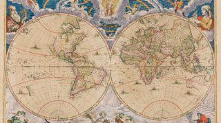 Joan Blaeun maailmankartta vuodelta 1662