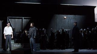 Einojuhani Rautavaaran ooppera Kaivos Unkarin valtionoopperassa.