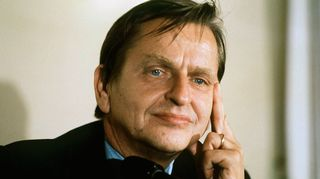 Radioateljee esittää: Viimeinen päivä - Olof Palme ja Boforsin varjo.  Kuvassa Olof Palme (1927-1986)