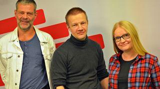 Roman Schatz, Matias Turkkila ja Johanna Vehkoo