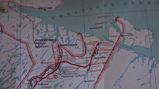Todellisia tarinoita: Jäämerentie. Kuva: Liinahamari. Maanmittaushallituksen kivipaino 1939 / Jarno Heinonen