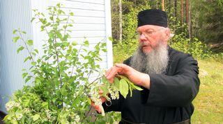 Todellisia tarinoita: Siunatut kaksi vuodenaikaa. Kuvassa munkki Stefanos.