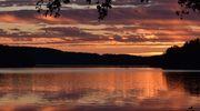 Sääkuva: Auringonlasku Saarijärvellä